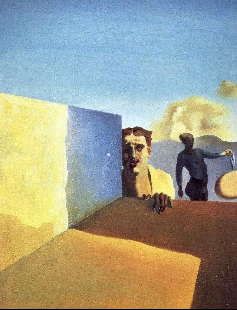 Fryzjer, zasmucony okrucieństwem dobrych czasów   Salvador Dali
