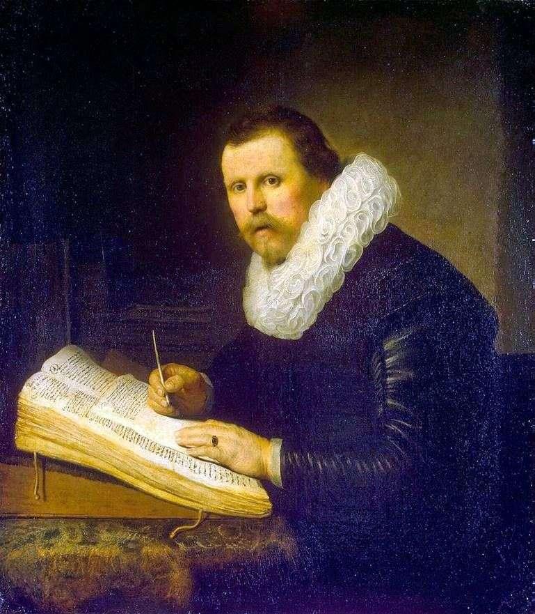 Portret naukowca   Rembrandt Harmens Van Rhine