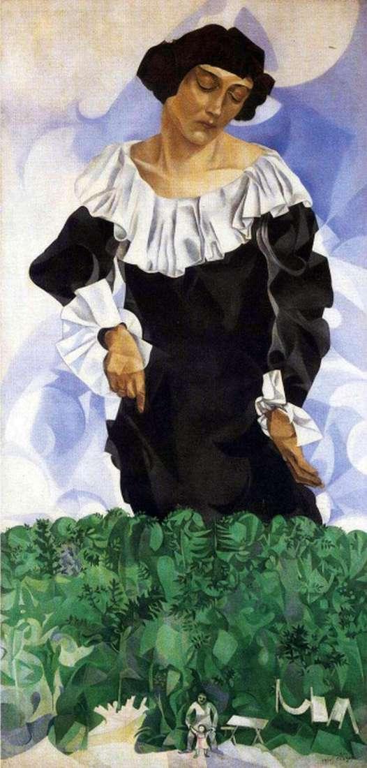 Bella z białym kołnierzykiem   Marc Chagall