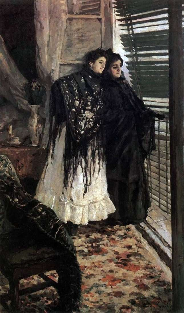 Na balkonie. Hiszpańskie kobiety Leonora i Ampara   Konstantin Korovin