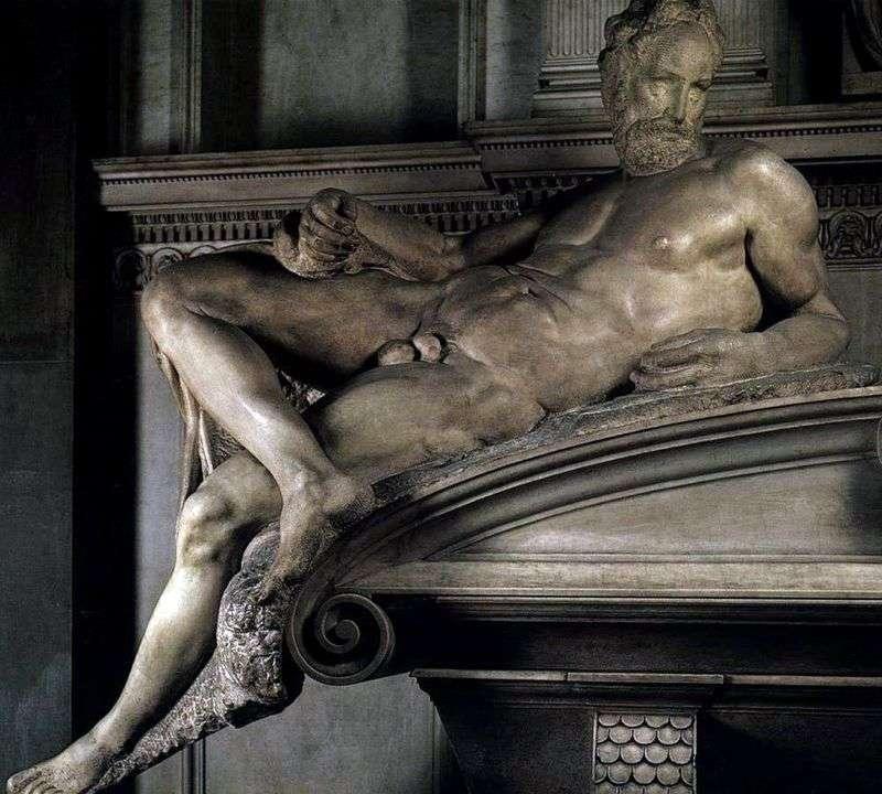 Wieczór (rzeźba)   Michał Anioł Buonarroti