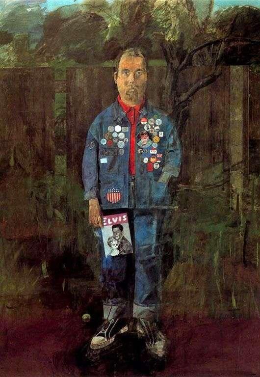 Autoportret z magazynem   Peter Blake