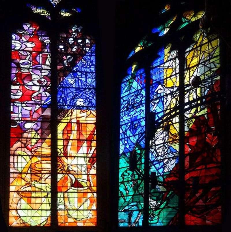 Witraż katedry św. Szczepana w Metzu   Marc Chagall