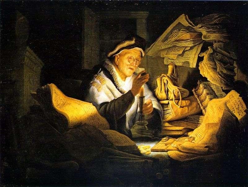 Przypowieść o bogaczu   Rembrandt Harmens Van Rhine