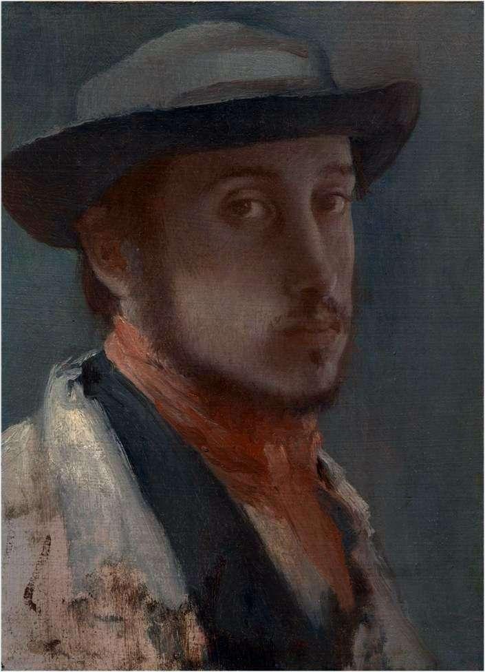 Autoportret w miękkim kapeluszu   Edgar Degas