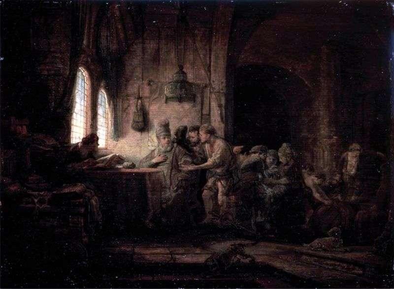 Przypowieść o robotnikach w winnicy   Rembrandt Harmens Van Rhine