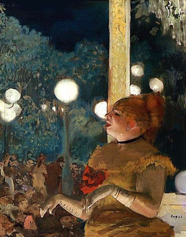 Psia aria lub piosenkarka z rękawiczką   Edgar Degas