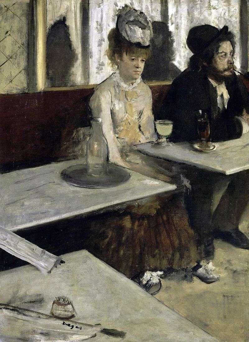 Absynt kochanek (Ludzie w kawiarni)   Edgar Degas