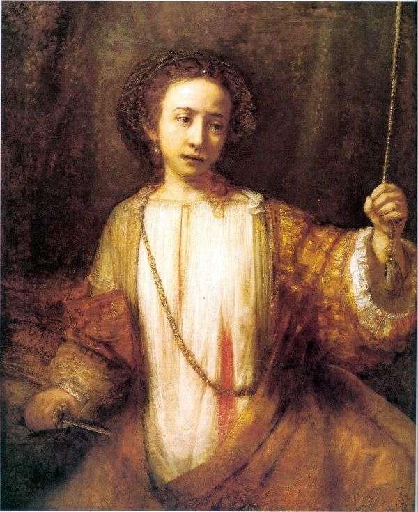 Lucretia Suicide   Rembrandt Harmens Van Rhine