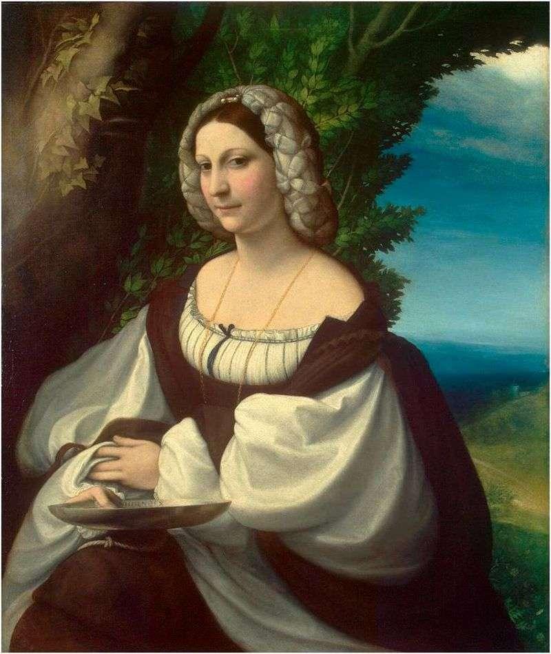 Portret kobiety   Correggio (Antonio Allegri)