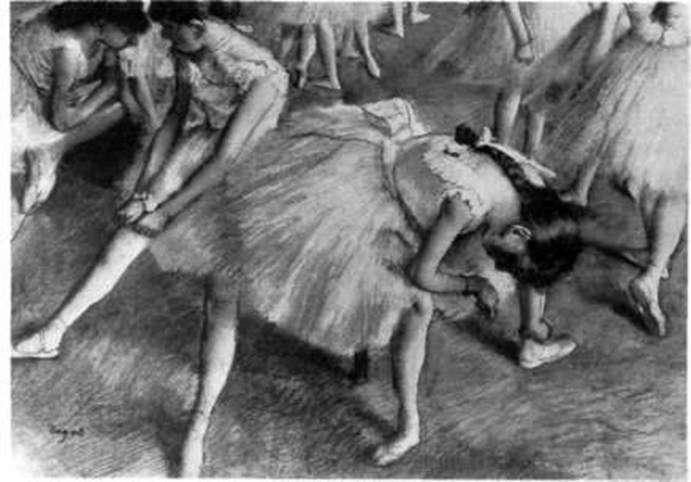 Czekam na scenę   Edgar Degas