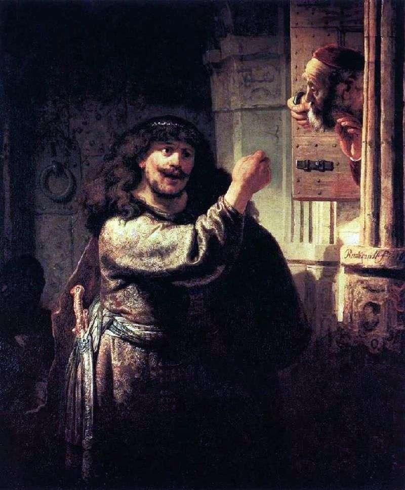 Samson grozi przetestowaniem   Rembrandt Harmens Van Rhine