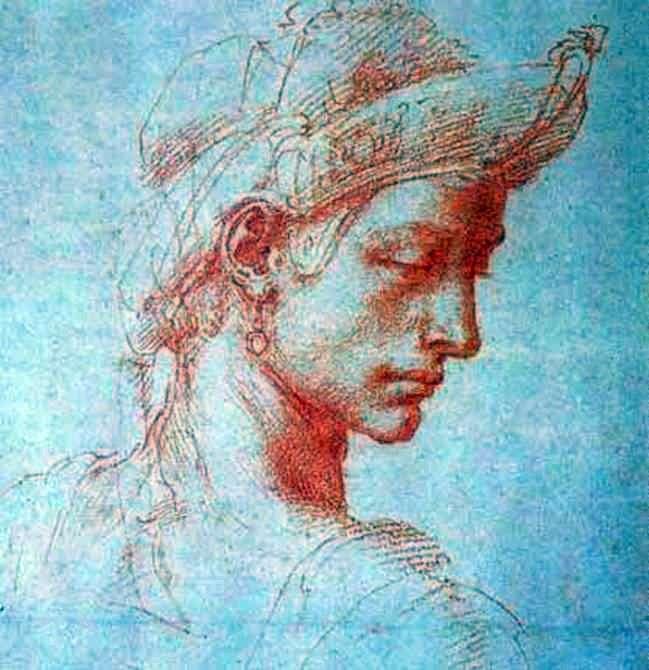 Idealna głowa   Michelangelo Buonarroti