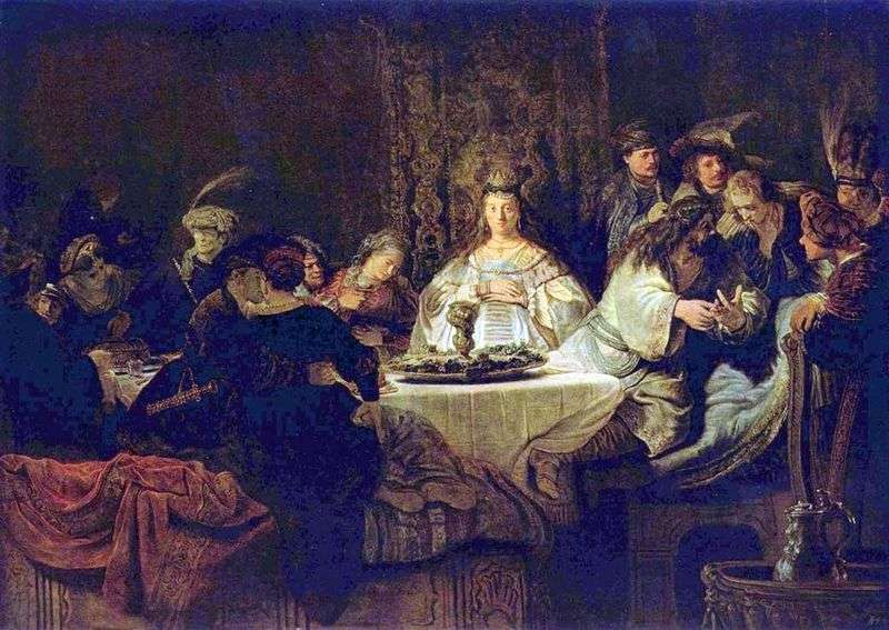 Samson układa puzzle na weselnym stole   Rembrandt Harmens Van Rhine