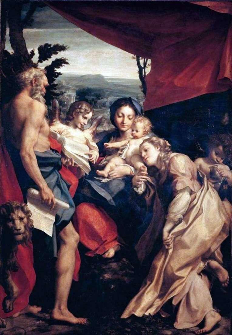 Madonna z St. Jerome   Correggio (Antonio Allegri)