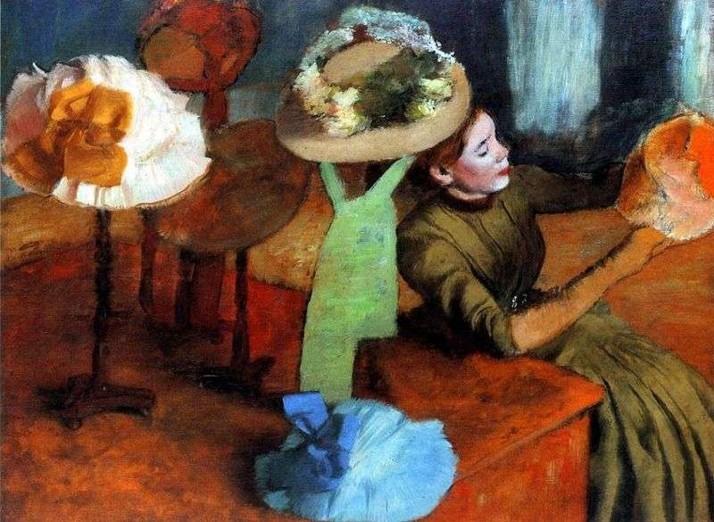 Sklep z odzieżą damską   Edgar Degas