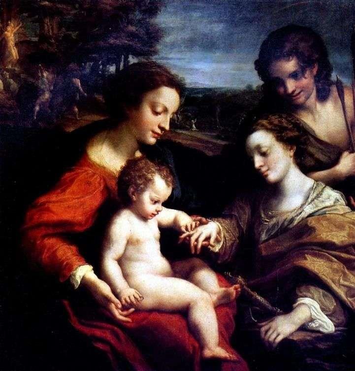 Mistyczne zaręczyny Świętej Katarzyny   Correggio (Antonio Allegri)