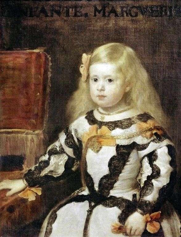 Infanta Maria Margherita, córka króla Filipa IV, króla Hiszpanii   Diego Velasqueza