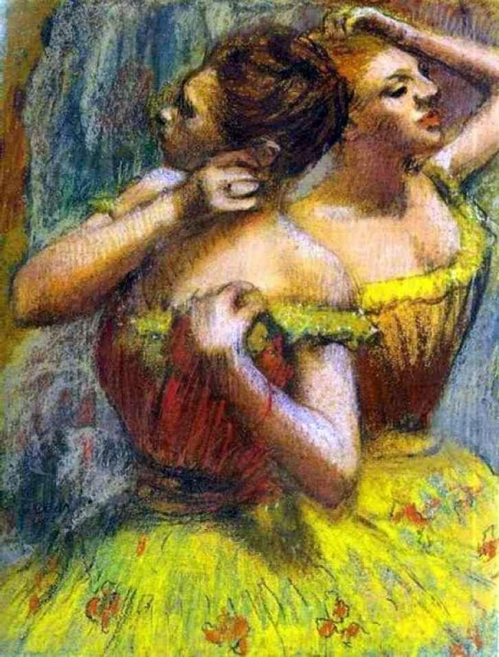 Dwaj tancerze   Edgar Degas