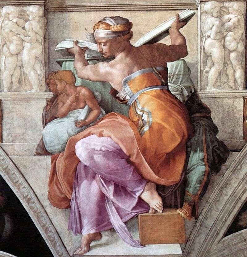 Libijska Sybilla   Michelangelo Buonarroti