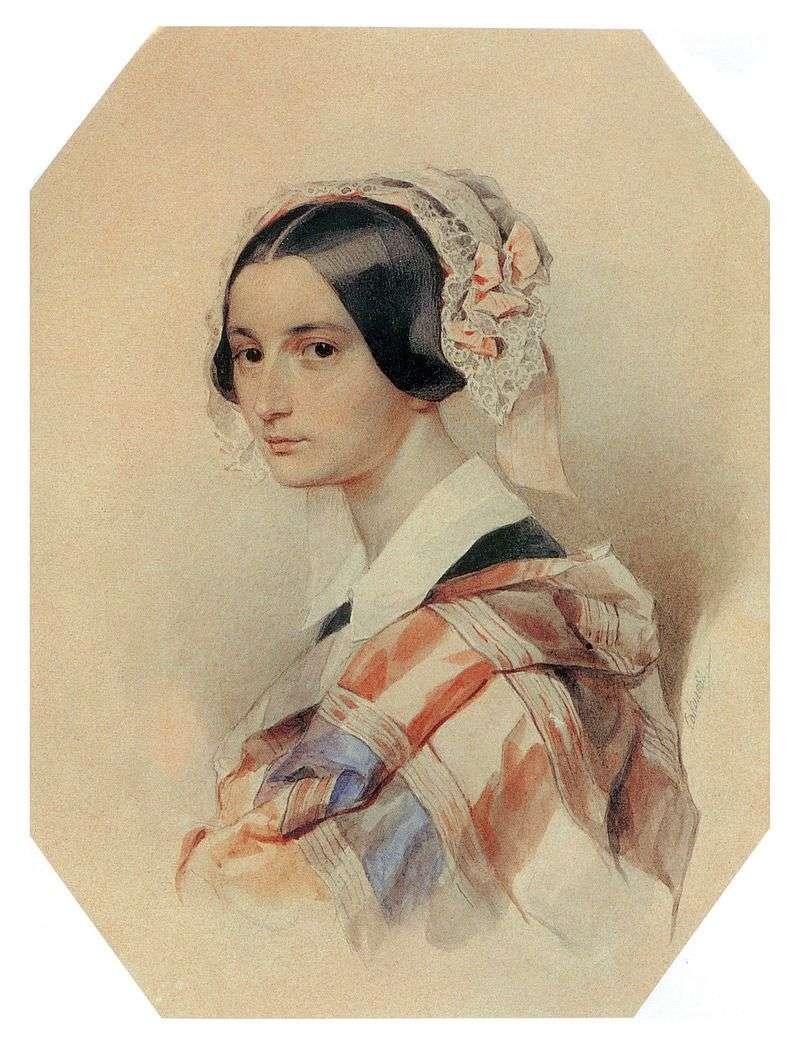 Portret A. O. Smirnova Rosset   Peter Sokolov