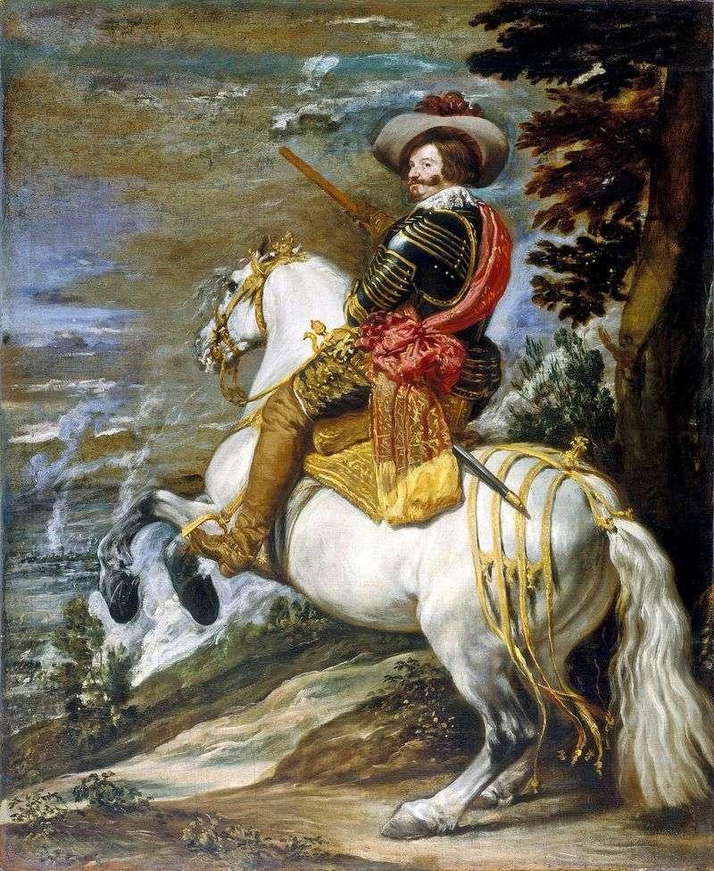 Portret konny hrabiego Olivaresa   Diego Velasqueza