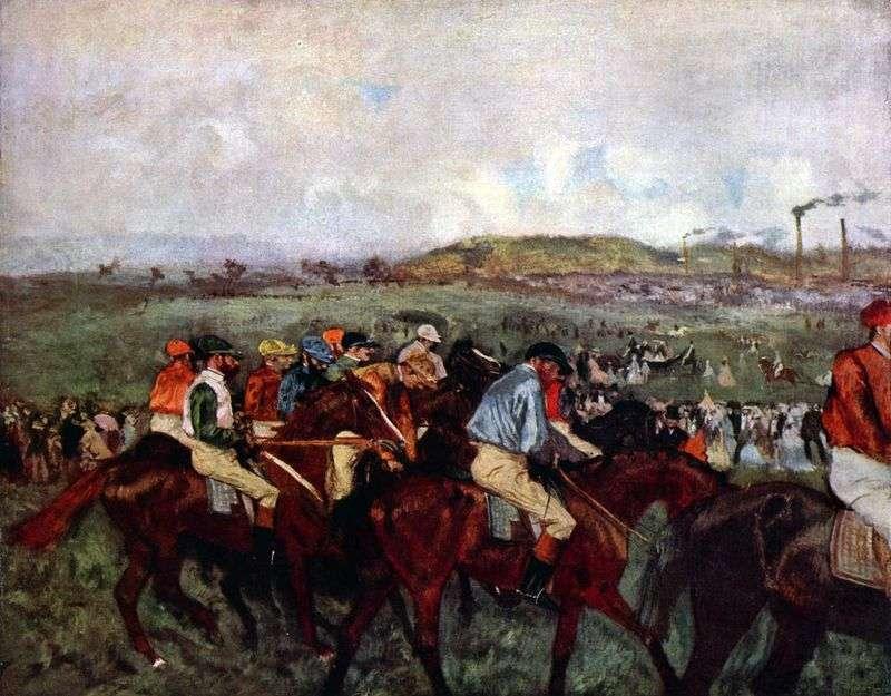 Panowie na wyścigach: przed startem   Edgar Degas