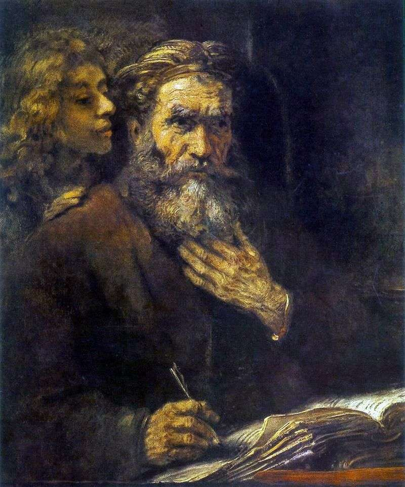 Święty Mateusz i Anioł   Rembrandt Harmens Van Rhine