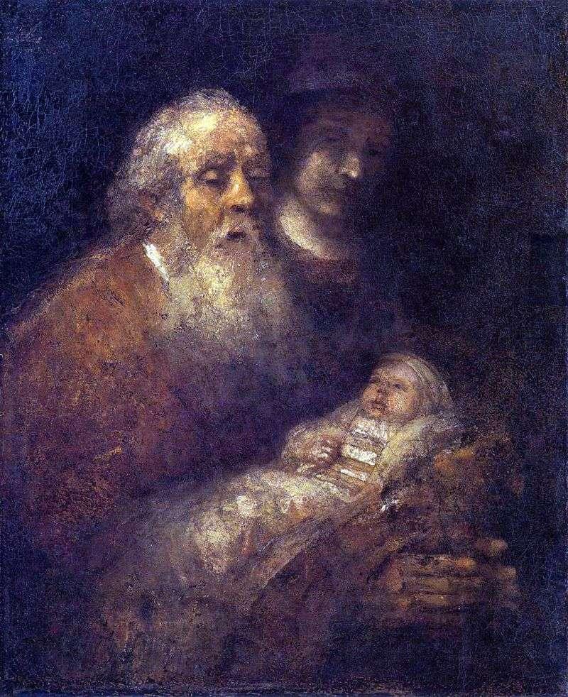 Symeon w świątyni   Rembrandt Harmens Van Rhine