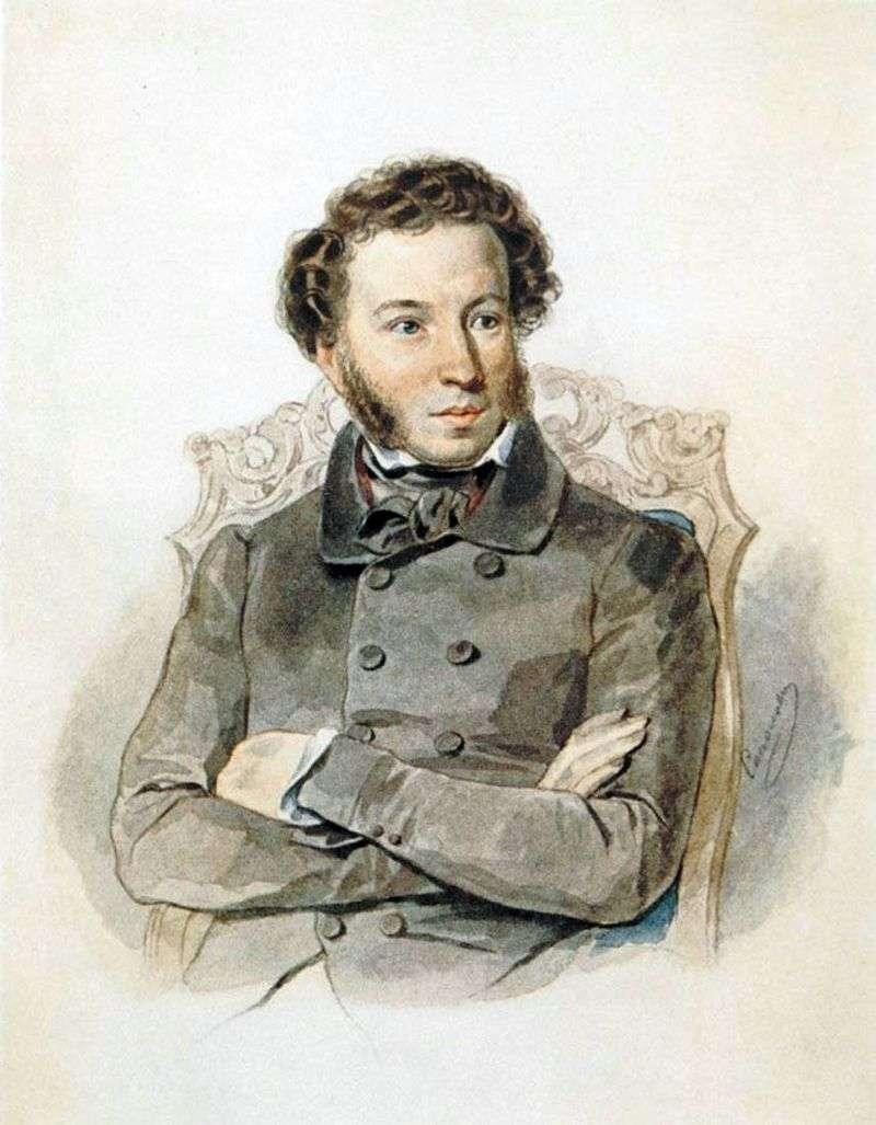 Portret A. S. Puszkina   Piotr Sokołow