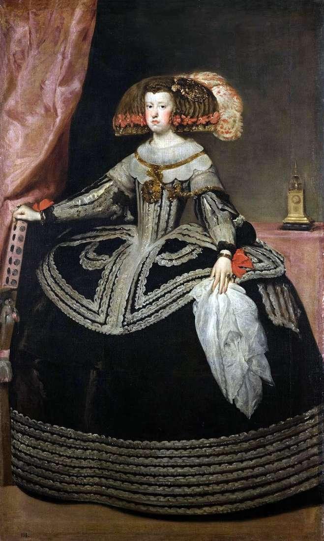Królowa Maria Anna z Austrii   Diego Velasquez
