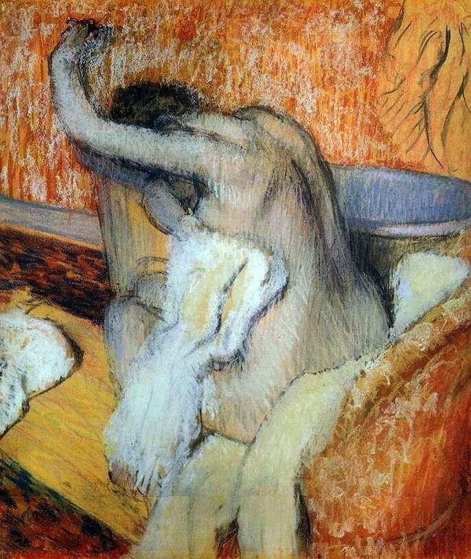 Kobieta ocierająca się ręcznikiem   Edgar Degas