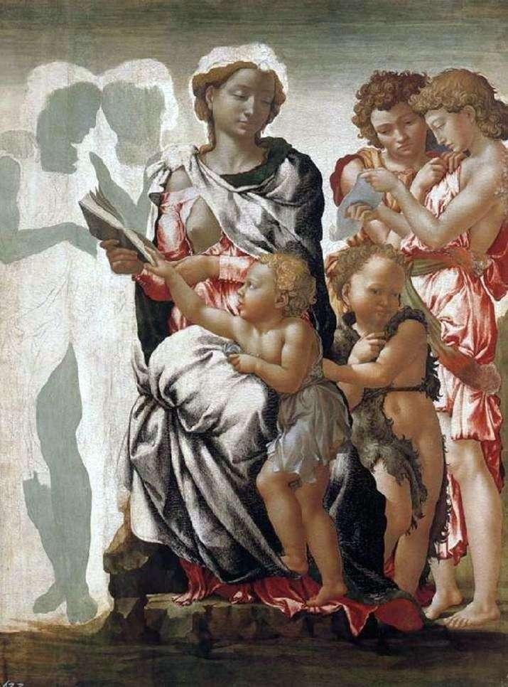 Madonna z Dzieciątkiem, Jan Chrzciciel i Aniołowie   Michał Anioł Buonarroti