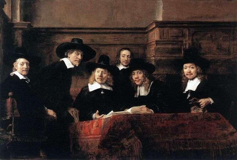 Sindik Cloths Shop   Rembrandt Harmens Van Rhine