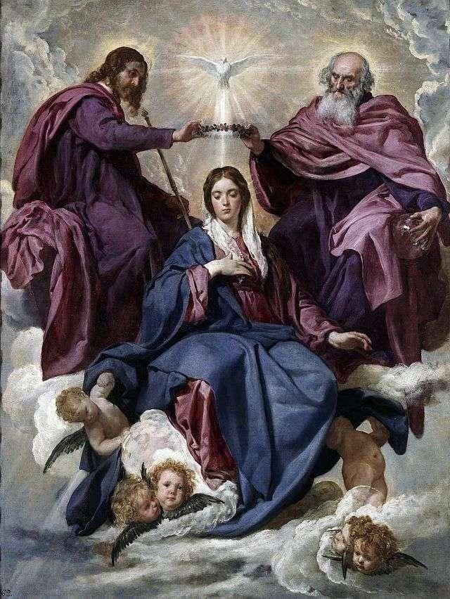 Koronacja Matki Bożej   Diego Velasquez