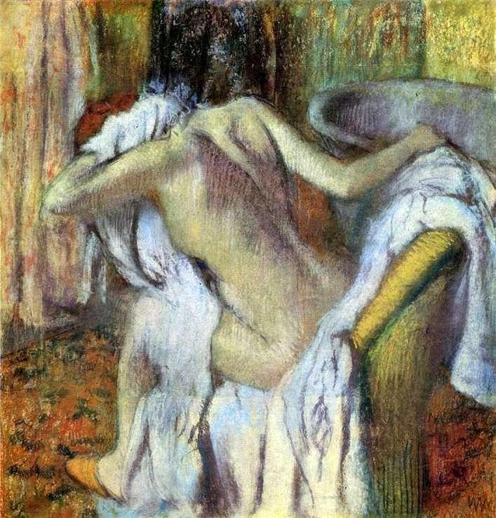 Kobieta wycierająca się po kąpieli   Edgar Degas