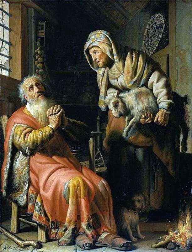Blind Tovit i Anna   Rembrandt Harmens Van Rhine