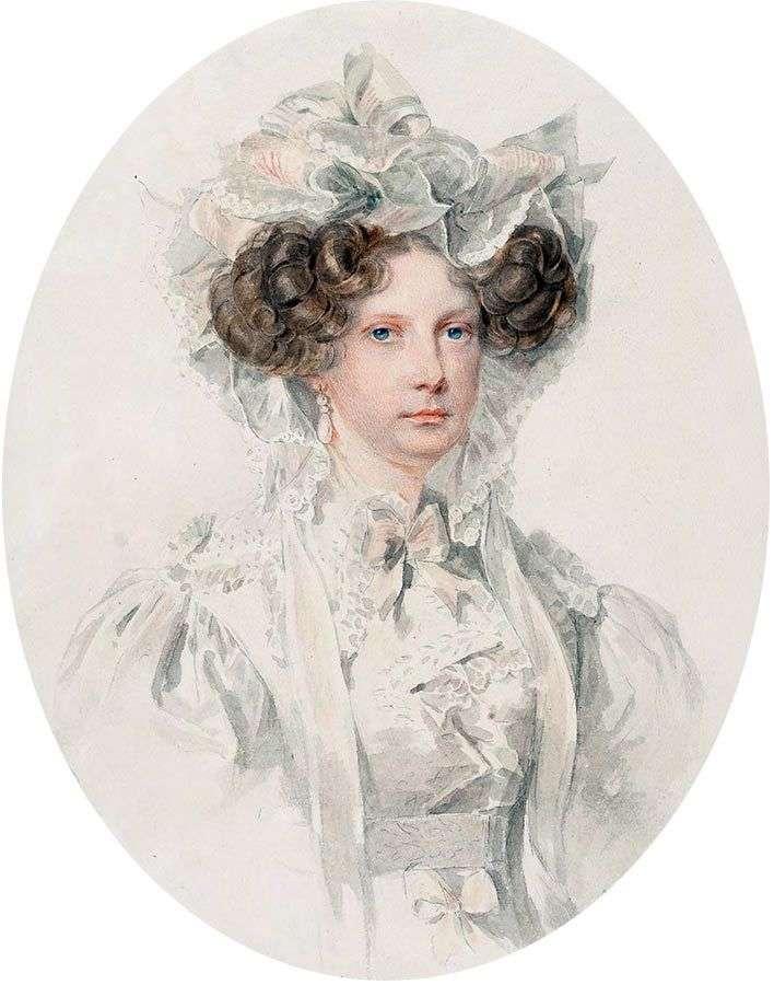 Portret wielkiej księżnej Aleksandry Fiodorowna   Piotra Sokołowa