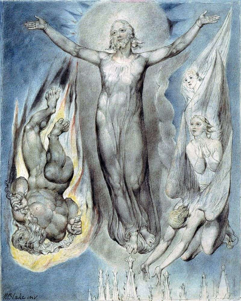 Wniebowstąpiony Chrystus   William Blake