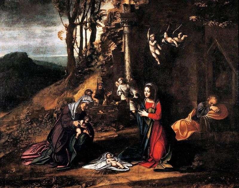 Boże Narodzenie z St. Elżbieta i mały Jan Chrzciciel   Correggio (Antonio Allegri)