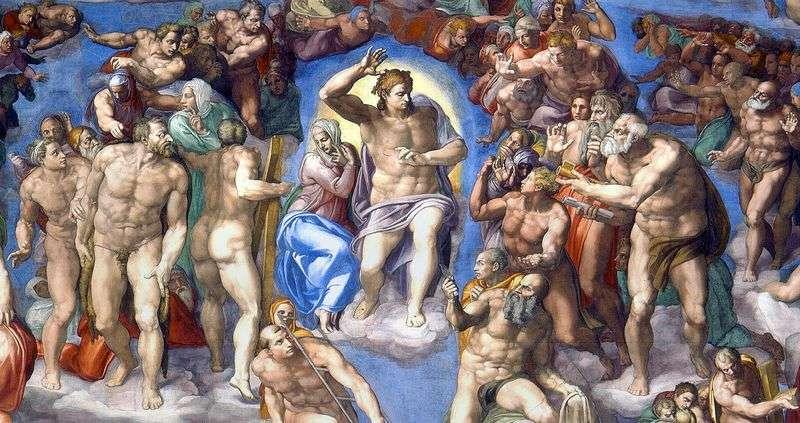 Obraz Chrystusa na fresku Sąd Ostateczny   Michelangelo Buonarroti