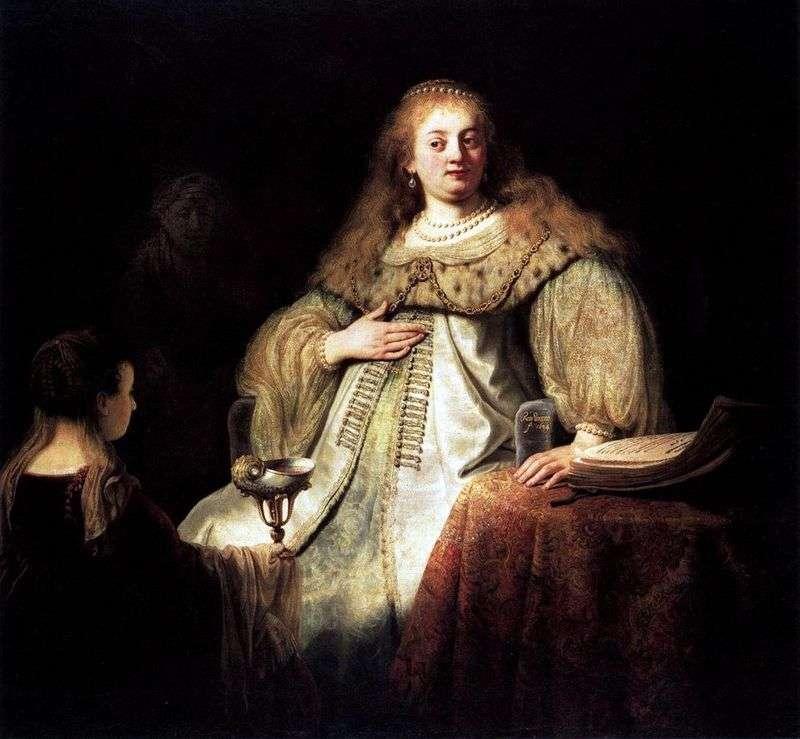 Sofonisba bierze miskę trucizny   Rembrandt Harmens Van Rhine