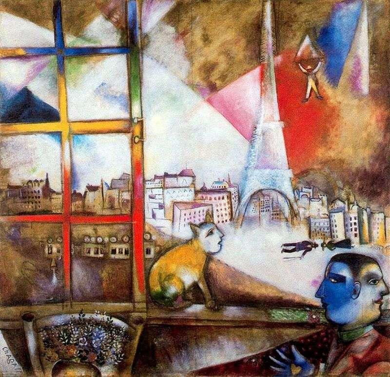 Paryż z okna   Marc Chagall