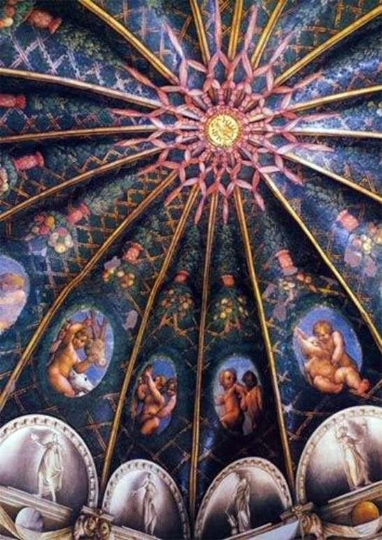 Murale klasztoru San Paolo w Parmie   Correggio (Antonio Allegri)