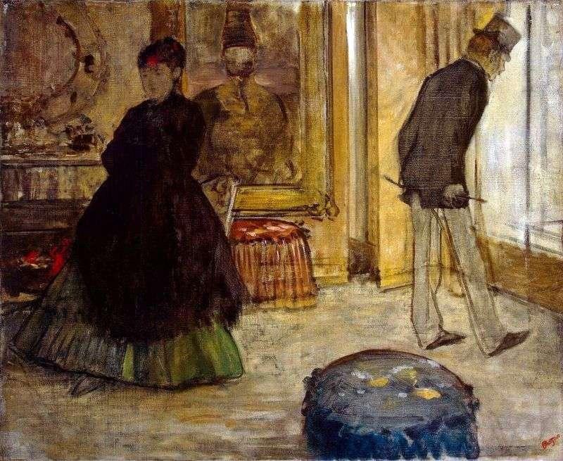 Wnętrze z dwiema figurami   Edgar Degas