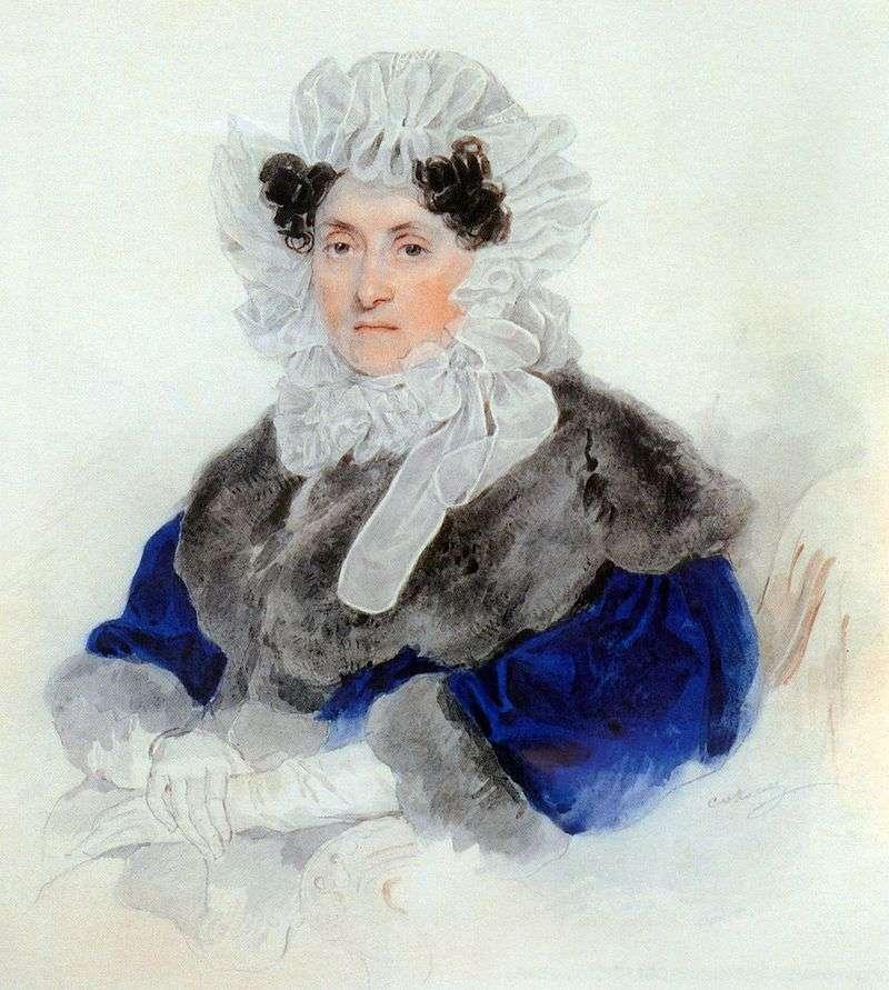 Portret E. A. Ostermana Tołstoja   Piotra Sokołowa