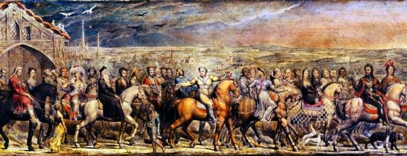 Pielgrzymi z Canterbury   William Blake