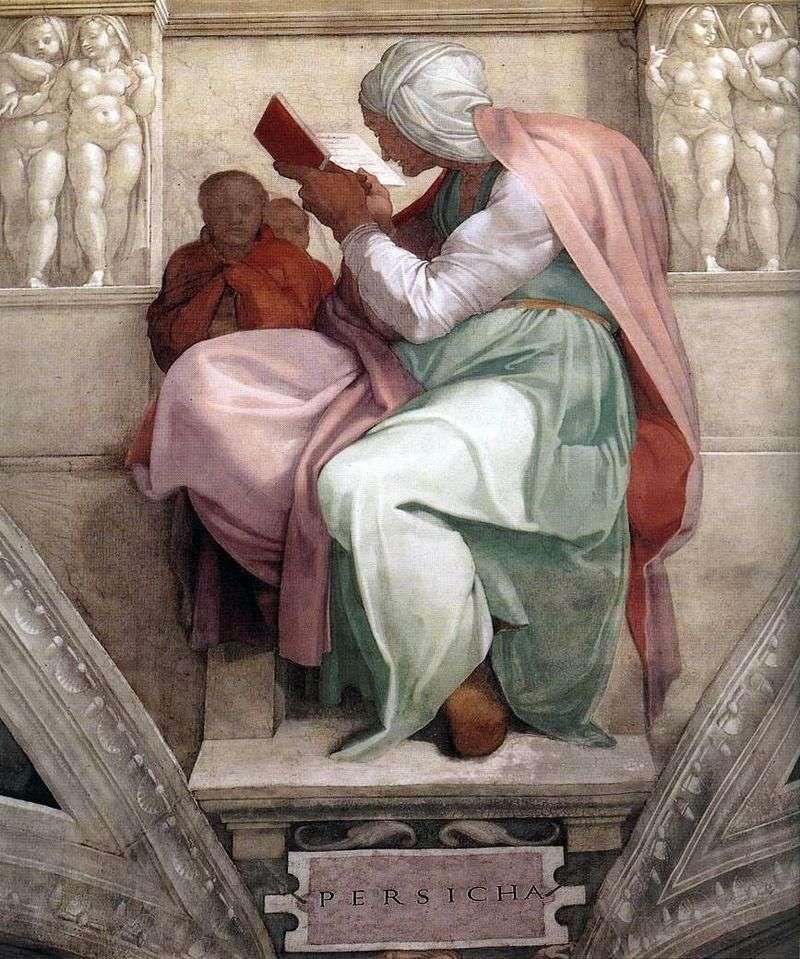 Perska Sybilla (fresk)   Michelangelo Buonarroti