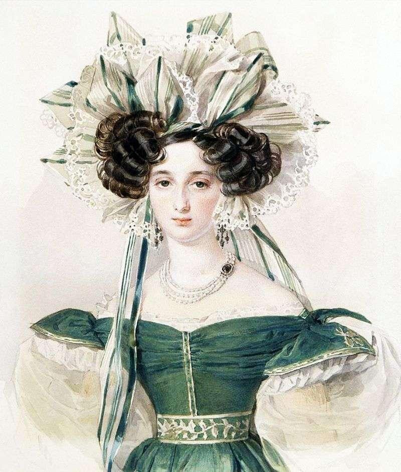 Portret Elżbiety Woroncowej   Piotr Sokołow