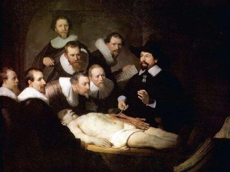 Lekcja anatomii dr. Nicholasa Tulpa   Rembrandt Harmens Van Rhine